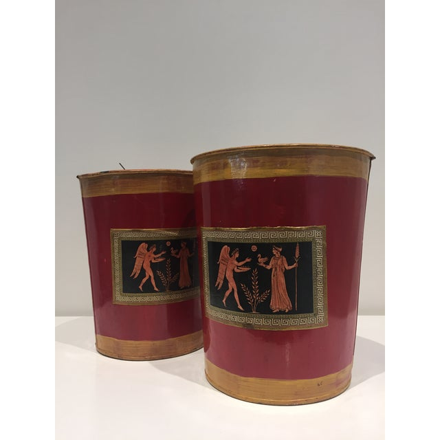 Painted Decoupage Buckets - a Pair - Image 4 of 4