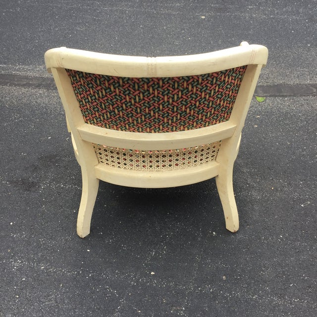 Vintage Cane Barrel Chair Dining Set - Set of 4 For Sale - Image 5 of 11