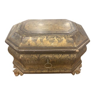 19th C. English Regency Chinese Box For Sale
