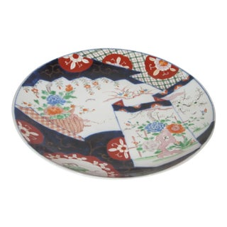 Antique Hand Painted Imari Charger For Sale
