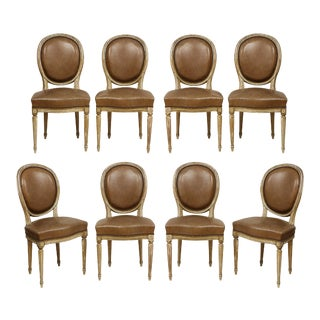 Louis XVI Style Dining Chairs - Set of 8 For Sale