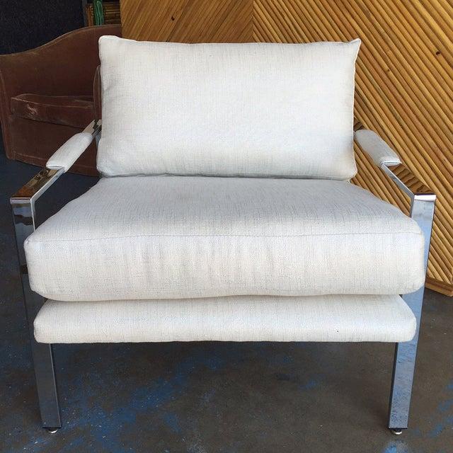 Milo Baughman Chrome Lounge Chair - Image 2 of 6