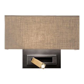 Black Bronze With English Brass Wall Light With Led Docking