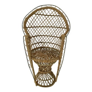Vintage Miniature Peacock Chair/ Planter