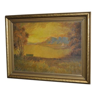 Early 20th C. California Landscape Marin Headlands From Lands End, San Francisco For Sale