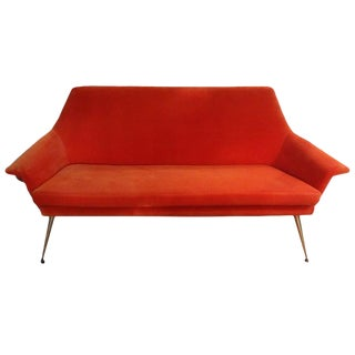 1960's Vintage Italian Gio Ponti Inspired Sofa For Sale