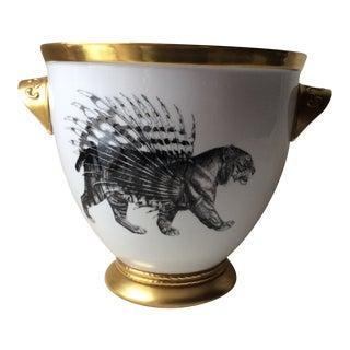 "1990s Vintage Mauricio Ortiz, ""Animalia"" Porcelain Cooler Ice Bucket For Sale"