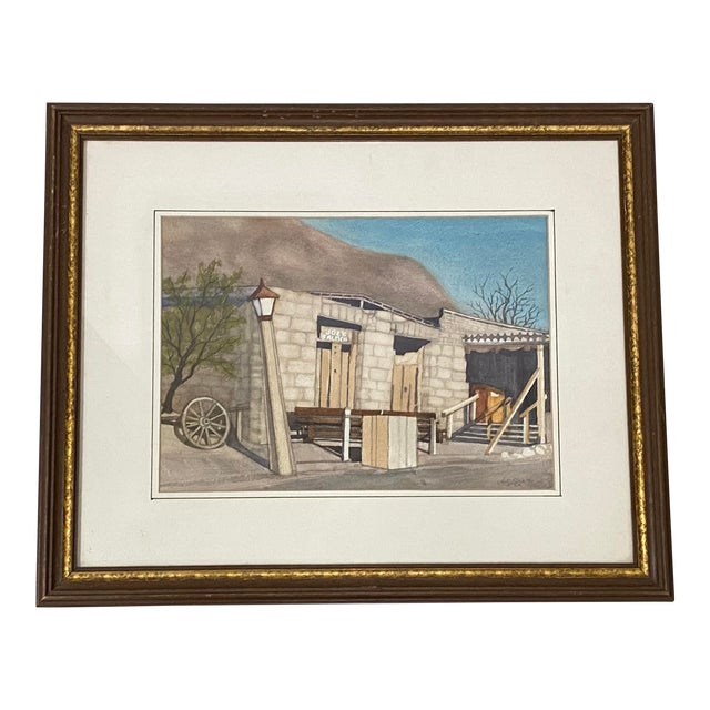 "Art Ellis ""Calico Mine, Joe's Saloon"" Original Watercolor C.1980 For Sale"