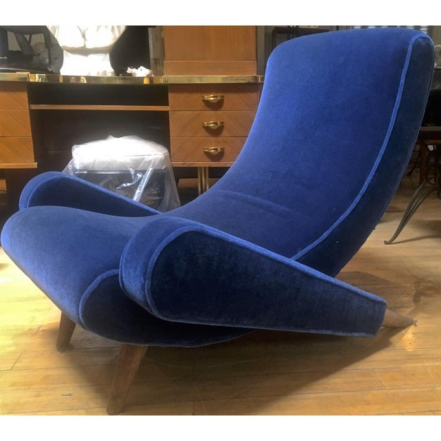 "Jean Royere Stunning Documented Pair of Lounge Chairs Model ""Varsano"" For Sale - Image 9 of 13"