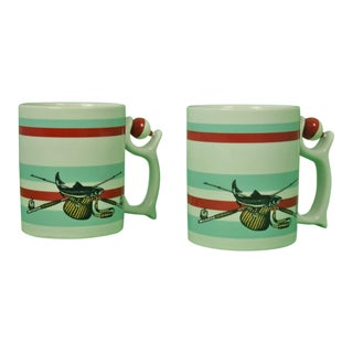 1980s Adirondack Spinners Angling Mugs - a Pair For Sale