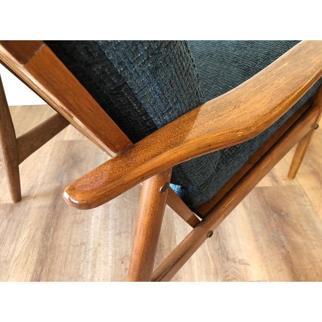 Mid-Century Modern Walnut Arm Chair For Sale - Image 11 of 13