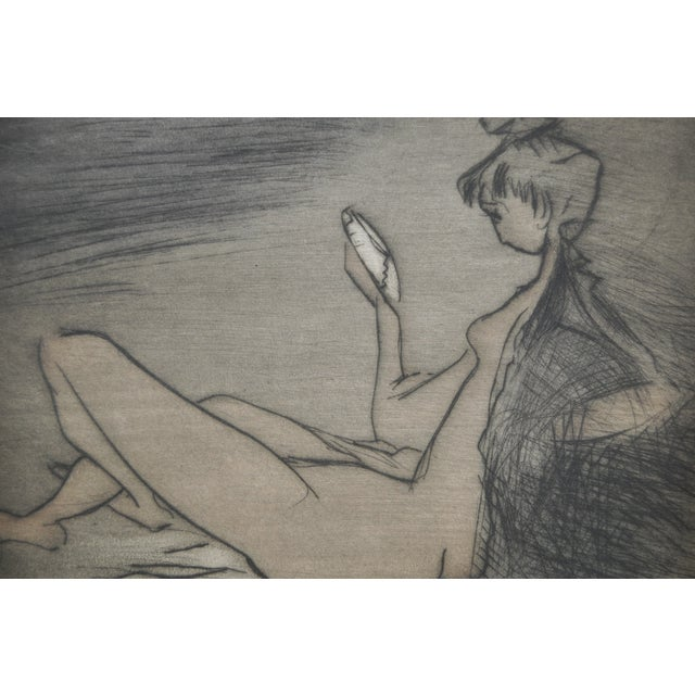 Vintage 70's Etching by French Artist Etienne Ret For Sale In San Francisco - Image 6 of 6