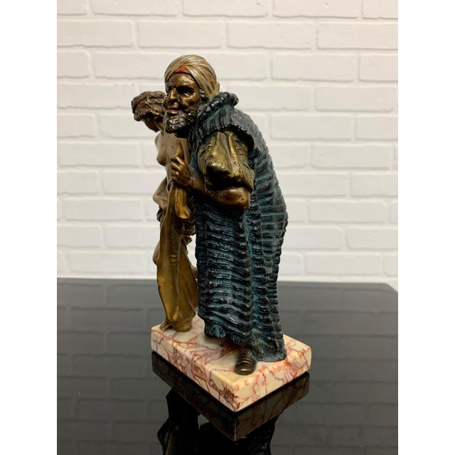 Islamic Cold Painted Orientalist Vienna Bronze by Franz Bergman For Sale - Image 3 of 9