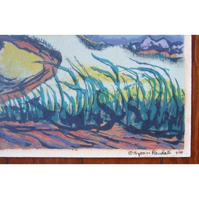 1940s Byron Randall Hawaii Silkscreen Print For Sale - Image 4 of 5