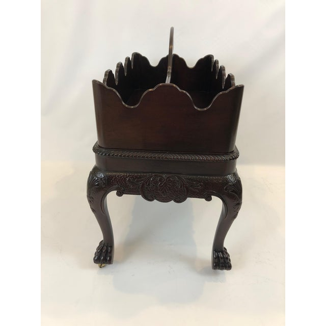Baker Furniture Company Chippendale Style Canterbury Magazine Rack With Removable Top For Sale - Image 4 of 12
