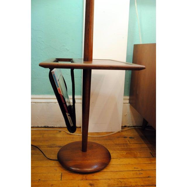 Danish Modern Laurel Mid-Century Floor Lamp With Table & Magazine Holder For Sale - Image 3 of 10