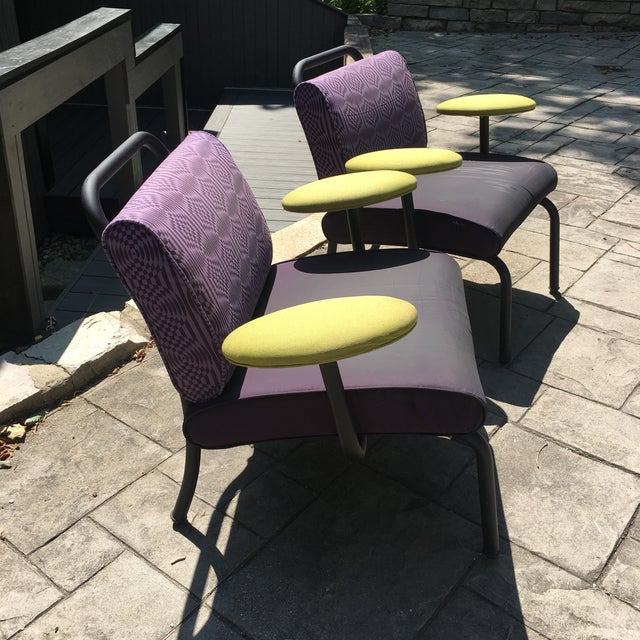 Industrial 1980s 1990s Memphis Modern Style Club Chairs - a Pair For Sale - Image 3 of 13