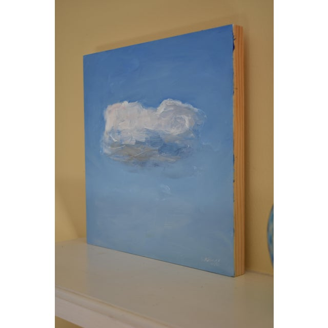 Small Cloud Study Hover Contemporary Painting by Stephen Remick For Sale In Providence - Image 6 of 8