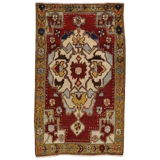 Vintage Turkish Oushak Rug with Modern Style
