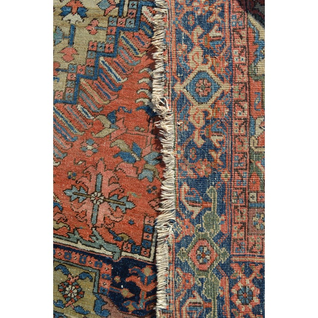 "Antique Persian Heriz Rug - 6'10"" X 9'11"" - Image 6 of 6"