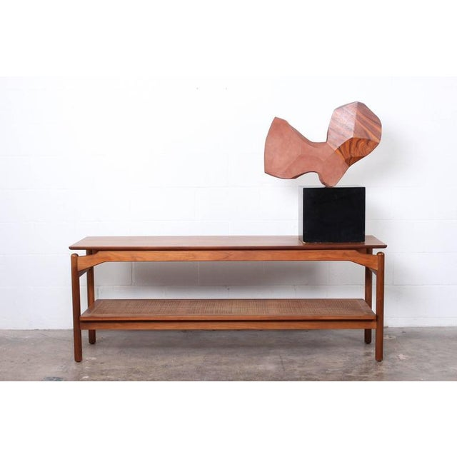 Large Stone and Walnut Sculpture For Sale - Image 10 of 10
