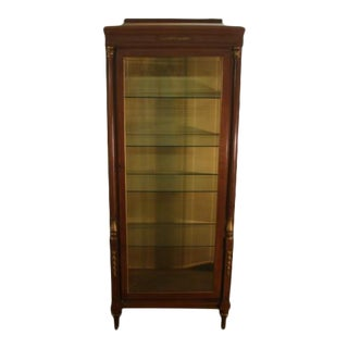 Solid Cherry French Style Curio China Cabinet For Sale