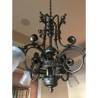 Mid-Century Brass Four Armed Chandelier Preview