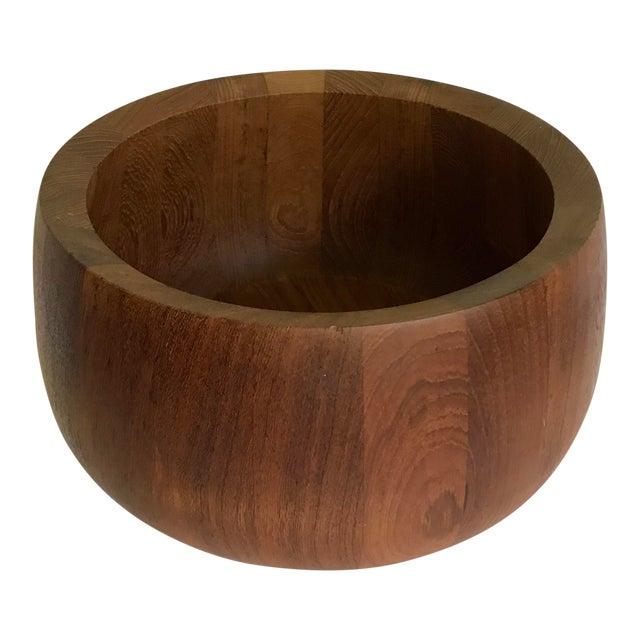 Vintage Jens Quistgaard Dansk Teak Wood Bowl For Sale