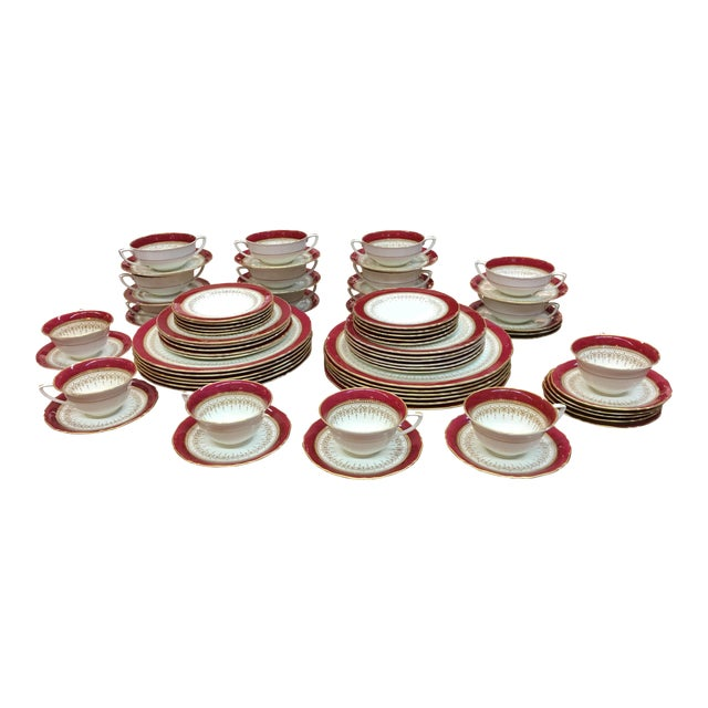 "Royal Worcester ""Regency"" China Ruby For Sale"