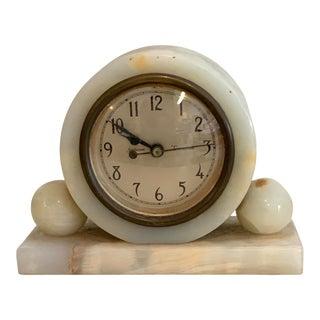 Vintage 1930s Neoclassical Onyx Sunbeam Eternatime Clock For Sale