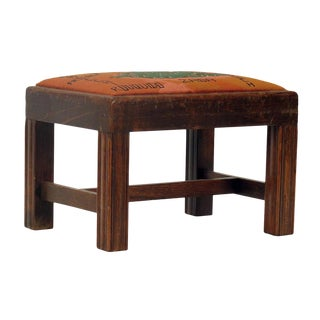 Chippendale Style Wooden Foot Stool For Sale