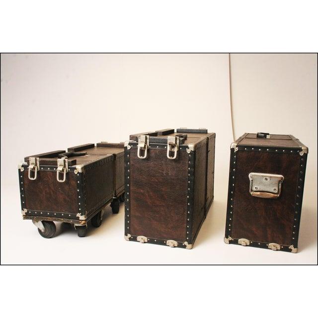 Vintage Industrial Black Steamer Storage Trunk - Image 11 of 11