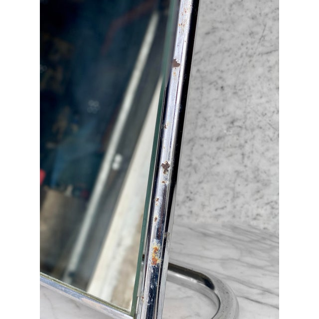 1970s Vintage Medical Doctor's Chrome Floor Table Mirror For Sale - Image 5 of 10