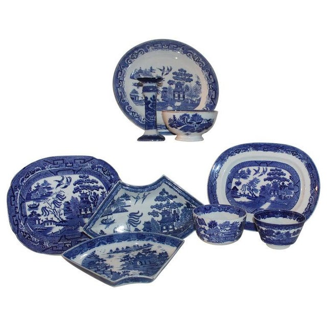 19th-20th Century Blue Willow Collection, 9 Pcs For Sale - Image 10 of 10