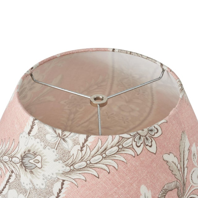 Schumacher Schumacher Le Castellet Linen Lampshade in Blush For Sale - Image 4 of 5