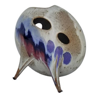 Ken Pick Abstract Glazed Biomorphic Art Pottery Vase For Sale