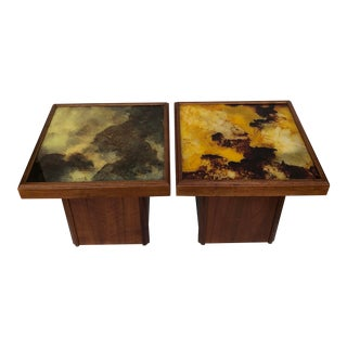 Mid-Century Modern John Keal for Brown Saltman End Tables - a Pair For Sale