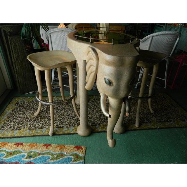 Marge Carson Elephant High Table & Stools - Set of 3 - Image 2 of 9