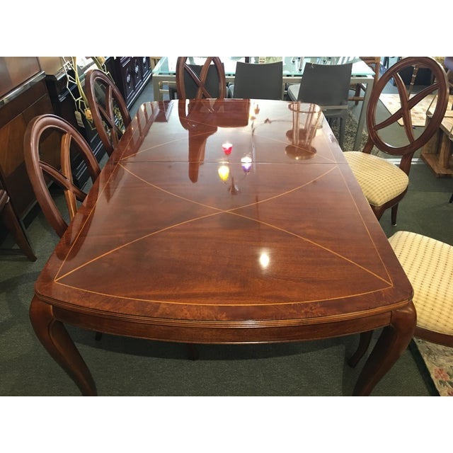 Traditional Thomasville Bogart Collection Dining Set - Set of 7 For Sale - Image 3 of 11