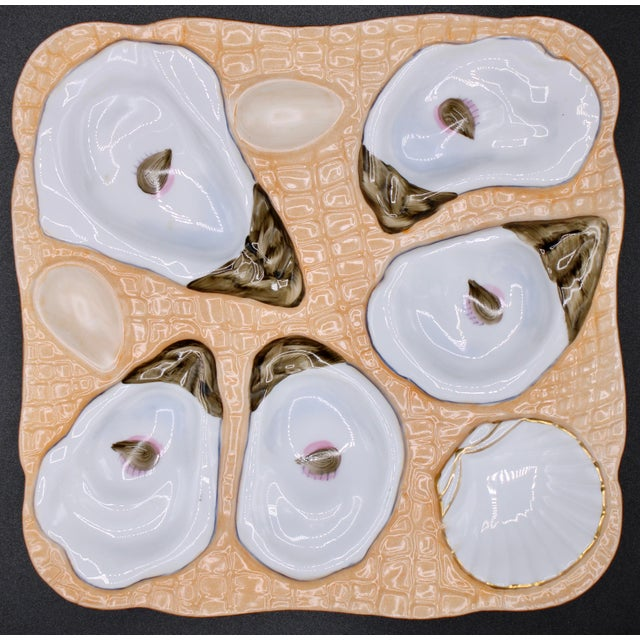 1960s Sunset Orange Oyster Plate For Sale - Image 10 of 10