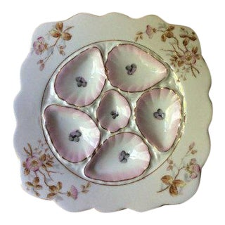 19th Century French Porcelain Oyster Plate