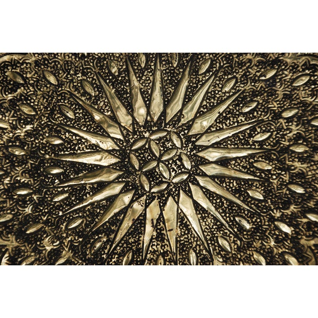 Vintage Moroccan Brass Tray - Image 6 of 8