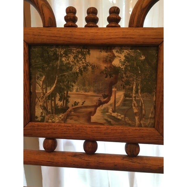 Country Standing Floor Model Vintage Bamboo and Brass Easel For Sale - Image 3 of 6