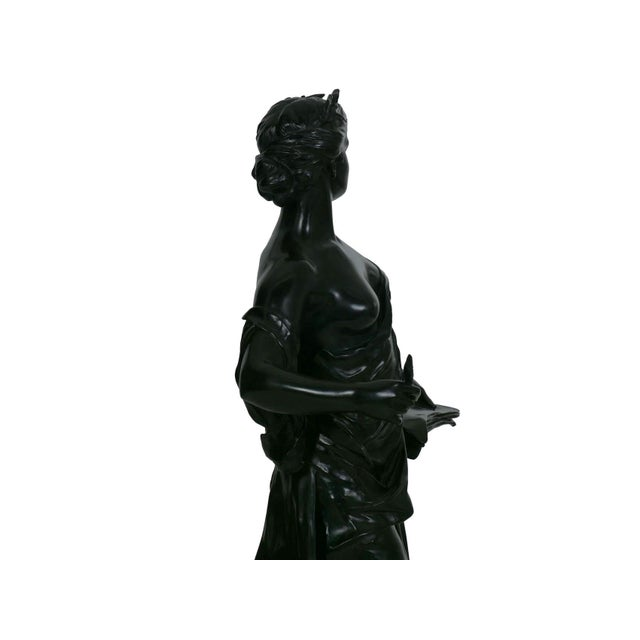 """Antique French Bronze Sculpture """"Science"""" by Edouard Drouot"""" For Sale - Image 10 of 13"""