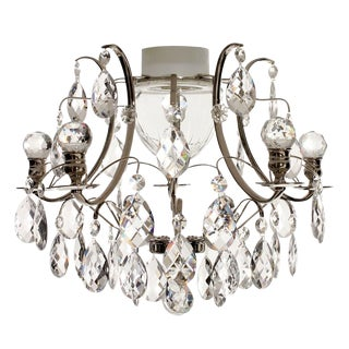 Bathroom Chandelier With Crystal Balls and Nickel Plated