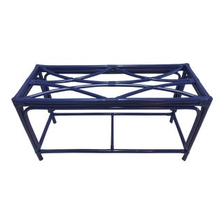 Royal Blue Tani Wood Console Table