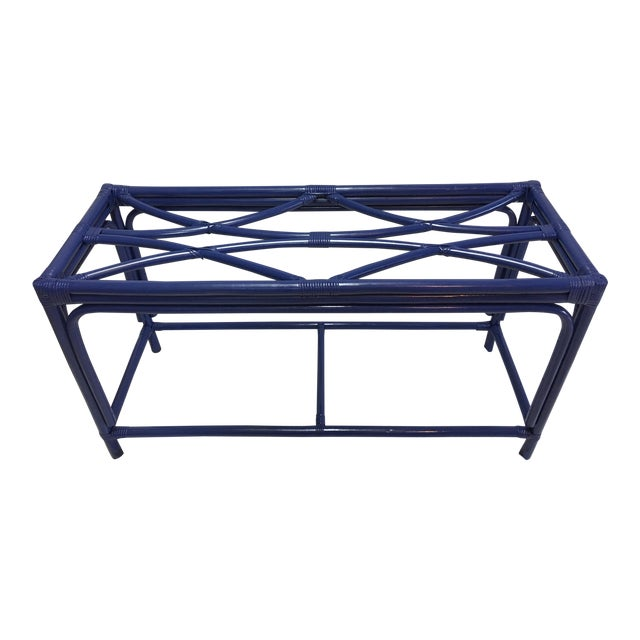 Royal Blue Tani Wood Console Table - Image 1 of 11