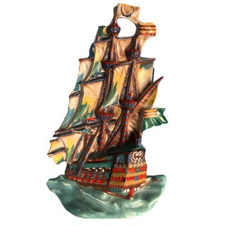 Pirate Ship - Ditmar Urbach Czechoslovakia Galleon Wall Plaque