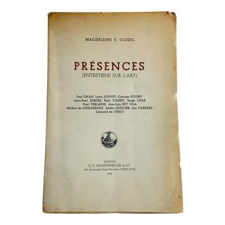 1952 Presences Entretiens Sur l'Art Book For Sale