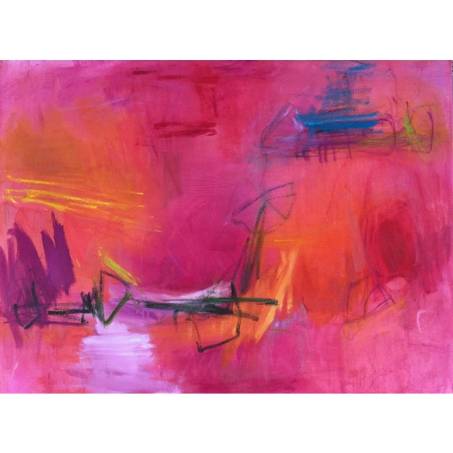 """Large Abstract Painting by Trixie Pitts """"High Road"""" - Image 1 of 6"""